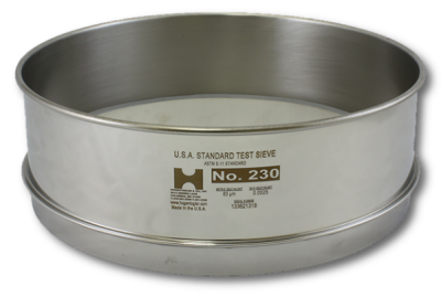 7291 - 200MM Test Sieve, No. 12 Mesh, Full Height, Stainless Frame - Stainless Cloth