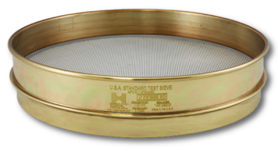 9640 - 200MM Test Sieve, No. 80 Mesh, Half Height, Brass Frame - Stainless Cloth