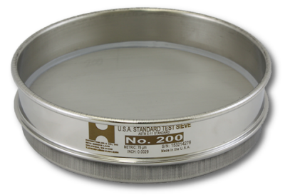"4034 - 6"" Test Sieve, No. 25 Mesh, Half Height, Stainless Frame - Stainless Cloth"