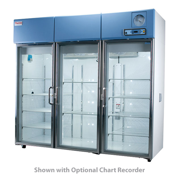 Thermo Scientific Revco RGL7504A Upright Lab Refrigerator, Glass Door, 78.8  CUFT, 120V